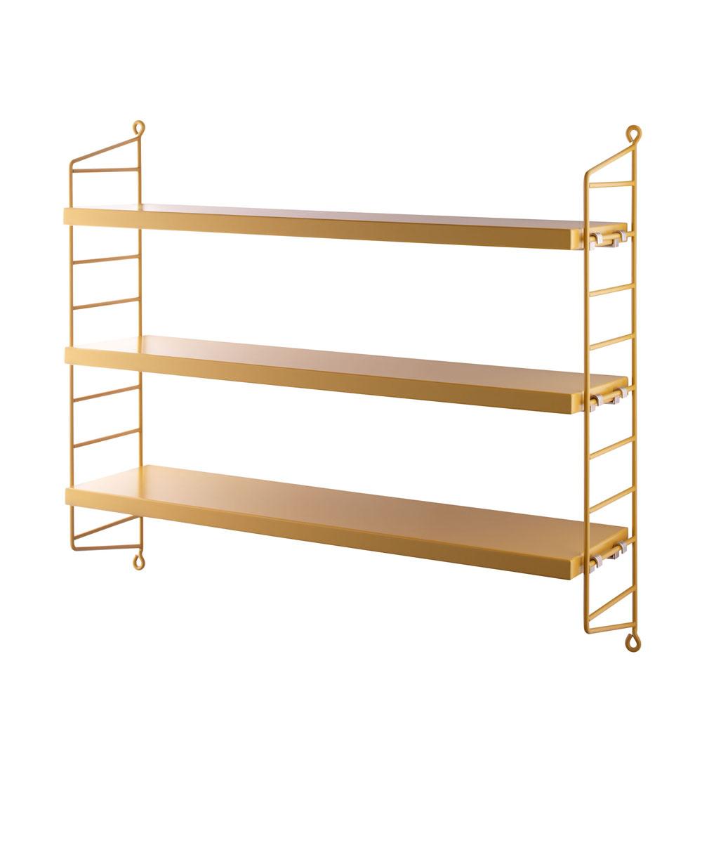 string pocket regal mustard petite catrin. Black Bedroom Furniture Sets. Home Design Ideas